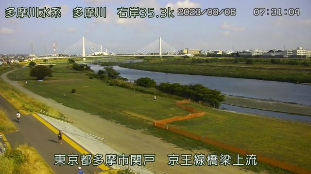 京王線橋梁上流 現在の写真