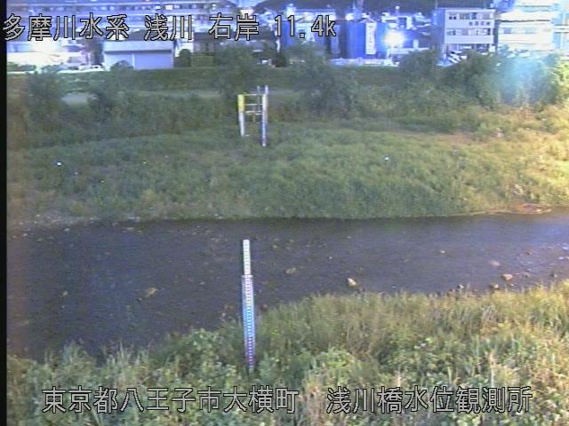 浅川橋水位観測所 現在の写真