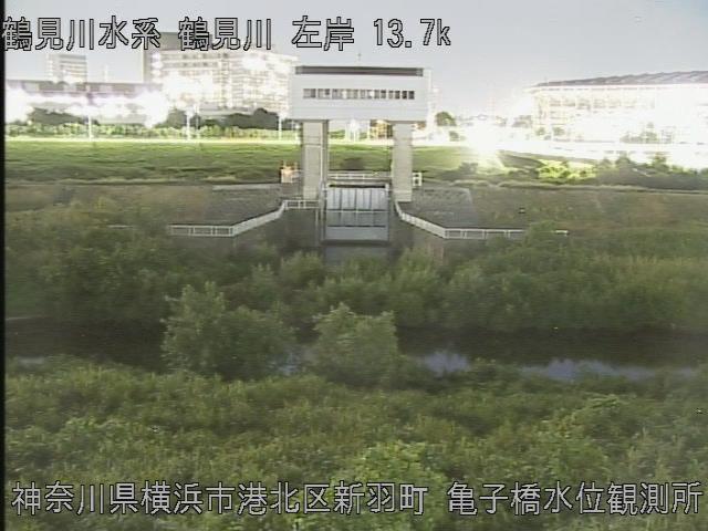亀の子橋水位観測所 現在の写真