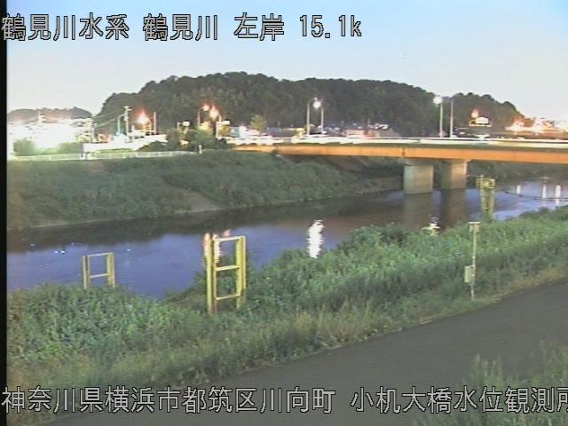 小机大橋水位観測所 現在の写真