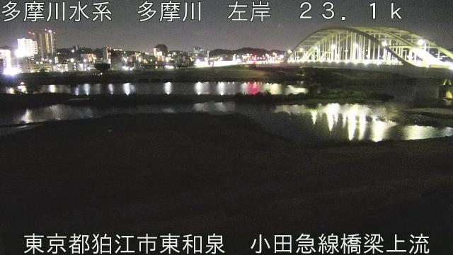 小田急線橋梁上流 現在の写真