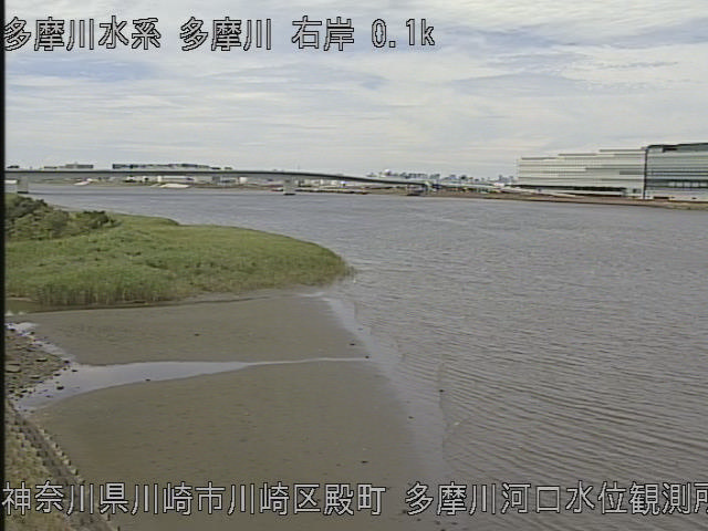多摩川河口水位観測所 現在の写真