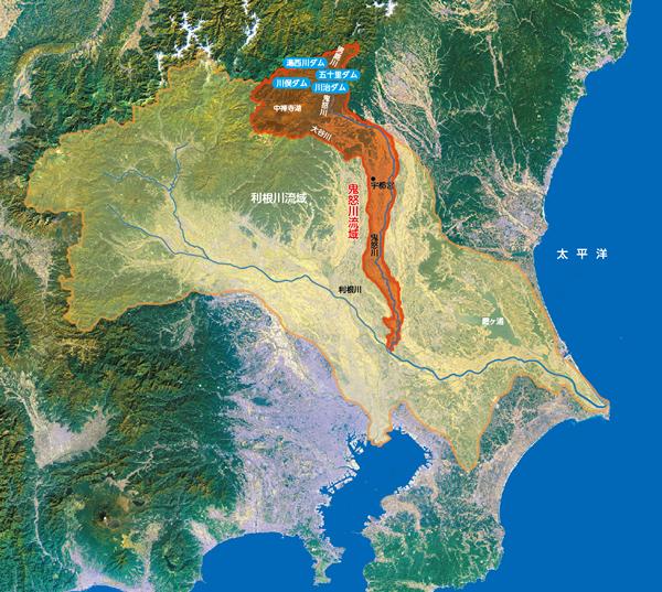 流域の概要   鬼怒川ダム統合 ... : 日本地図 山地 : 日本