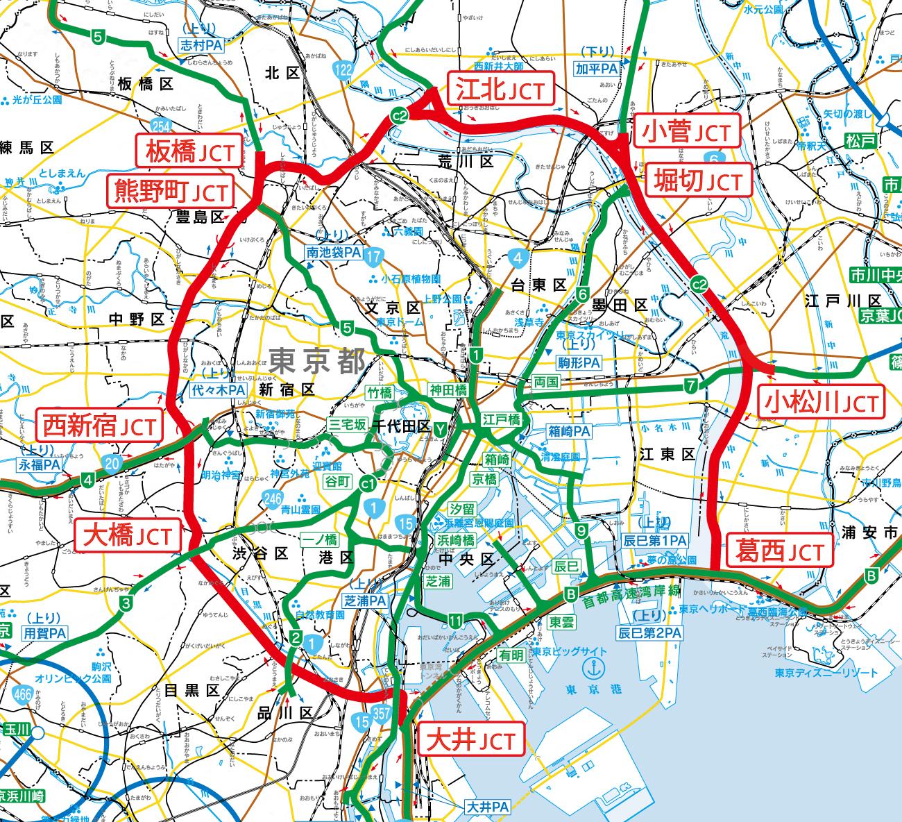 中央環状線(首都高速中央環状線) | 道路 | 国土交通省 関東地方整備局