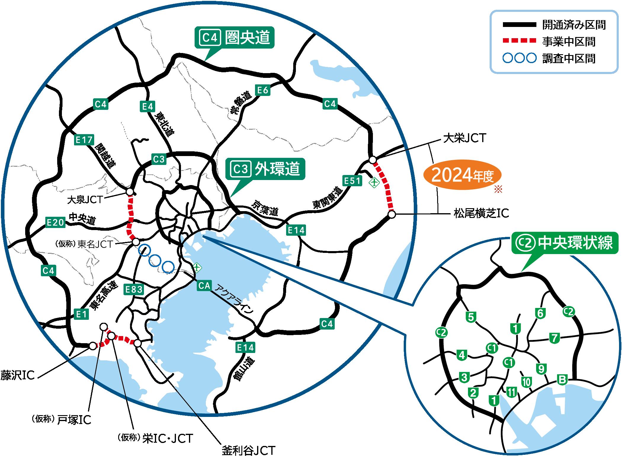 首都 圏 中央 連絡 自動車 道