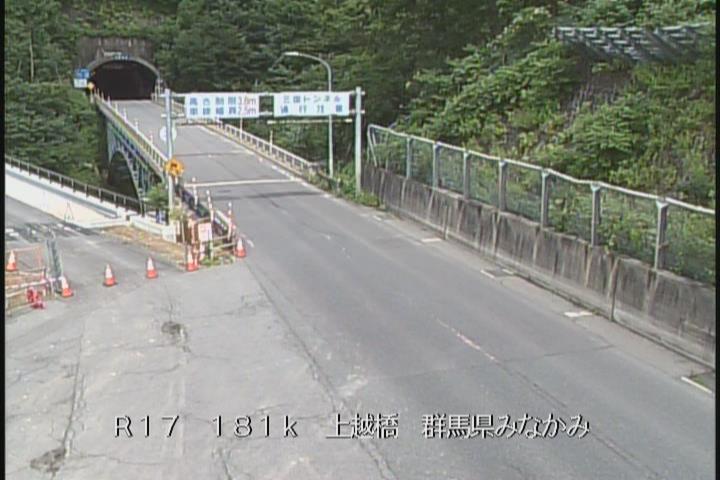 国道17号 三国トンネル群馬県側(上越橋)
