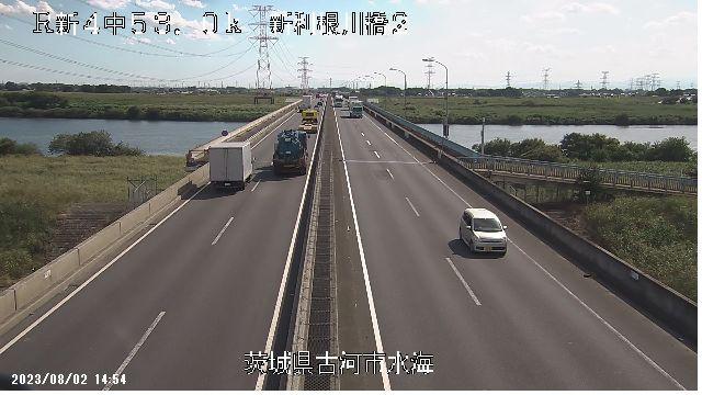 国道4号 新利根川橋上りライブカメラ映像